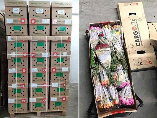 Концепция легкой упаковки позволяет сэкономить до 2 кг веса на одной коробке с розами из Кении